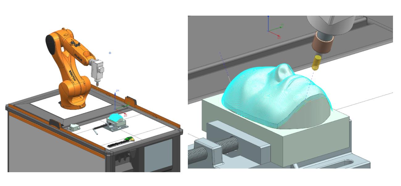 Prezentacja koncepcji Industry 4.0 - przygotowanie programów obróbczych na robota frezującego