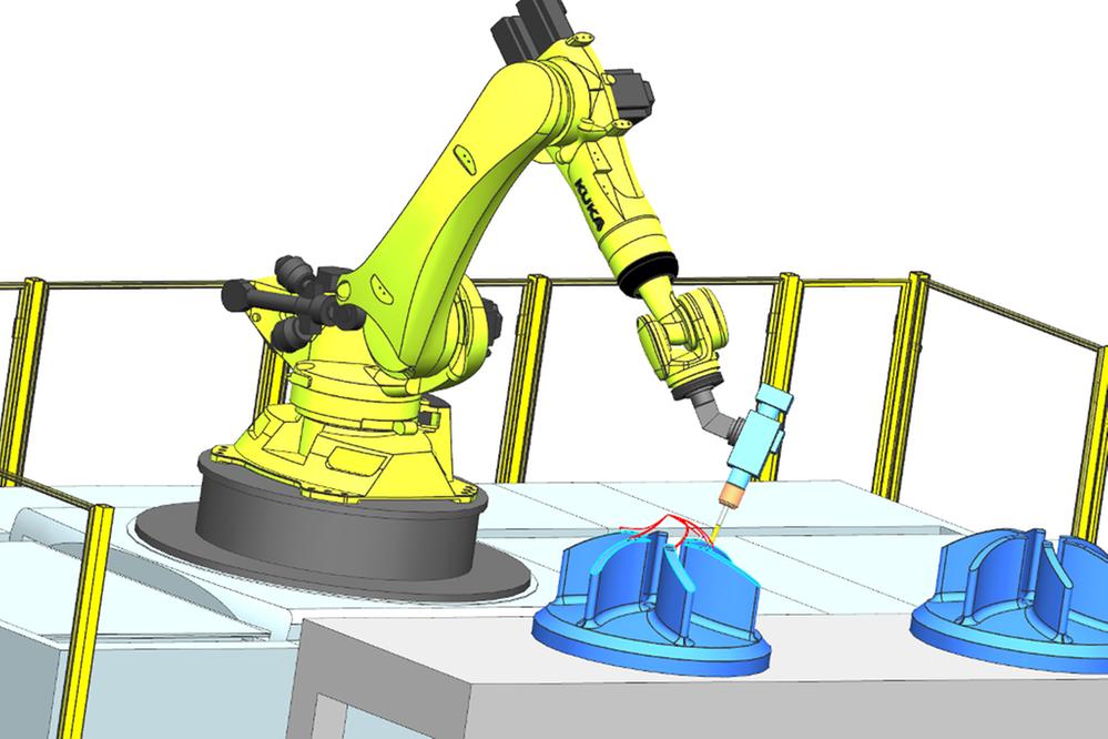 Programując roboty w NX CAM Robotics uzyskujemy precyzyjne operacje obróbcze