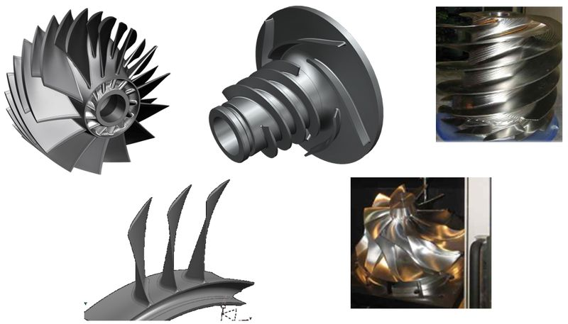 """Przykłady geometrii typu """"Turbomachnery"""