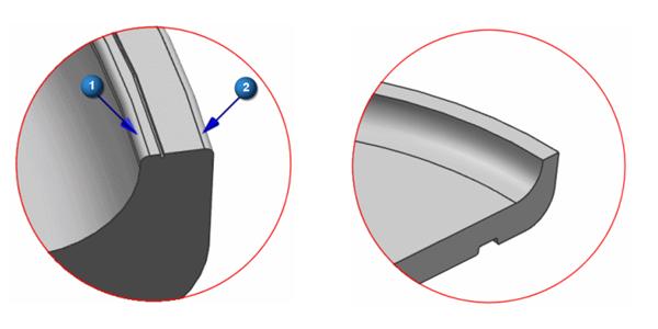 Rys. 5. Przykład uproszczenia geometrii