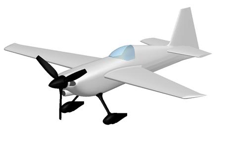 Model samolotu analizowany w środowisku Simcetner FLOEFD