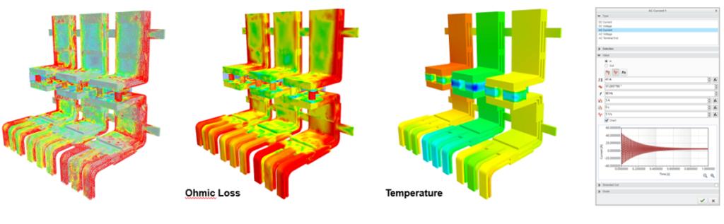 Zastosowanie solwera EM do zjawisk prądu przemiennego oraz zjawisk elektromagnetycznych w środowisku Simcetner FLOEFD 2021.1