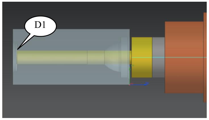 Nowości NX CAM - Wiercenie małej średnicy do momentu osiągnięcia bezpiecznej odległości pomiędzy powierzchnią części, a średnicą D2 (D1, S1697, F245)