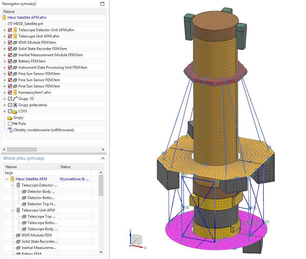 Rys. 10. Struktura złożenia AFM w Nawigatorze symulacji