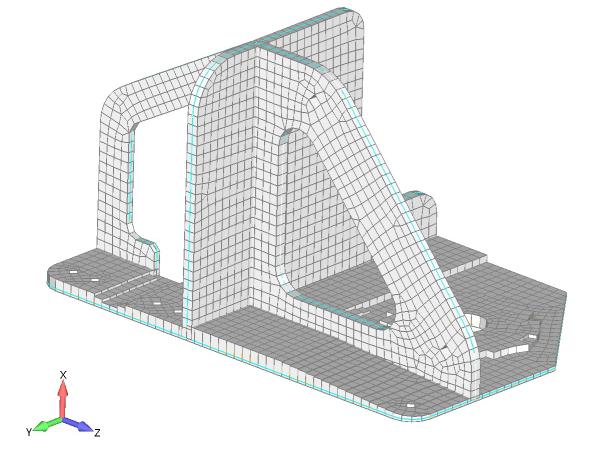 Wizualizacja grubości siatki po dopasowaniu jej do modelu 3D