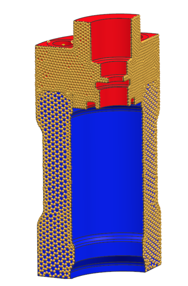 Warunek symetrii cyklicznej dla kołnierza i obudowy pompy