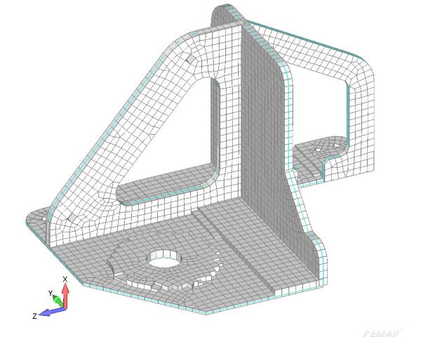 Wizualizacja grubości siatki po dopasowaniu jej do modelu 3D w drugim ujeciu