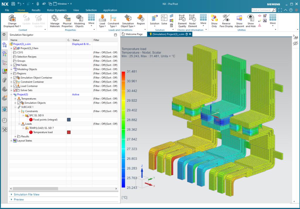 Przeniesienie danych wraz z np.: rozkładem temperatur z Simcenter FLOEFD do Simcenter 3D
