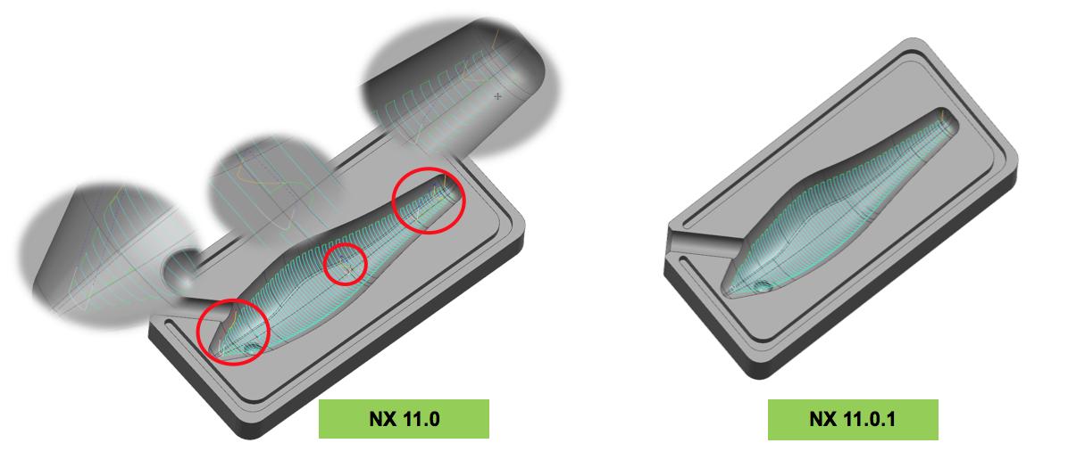 Frezowanie 3D - Obróbka obszaru: przerwy w części