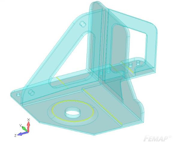 Model 3D z zaznaczonymi krawędziami do zrzutowania