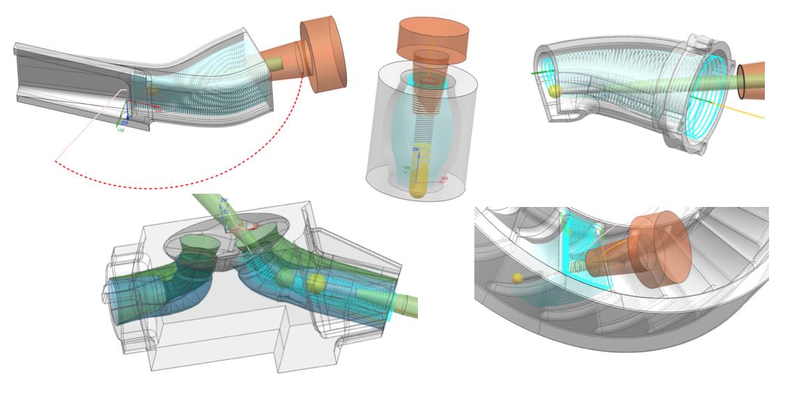 Frezowanie 5D - Tube Finish: obróbka kanałków