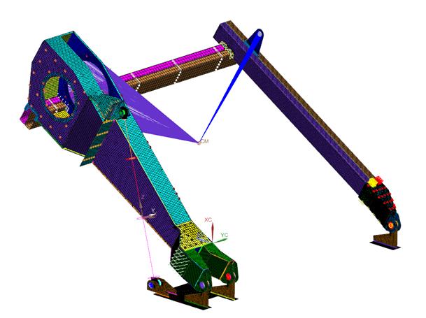 Model MES wraz ze wszystkimi połączonymi obiektami