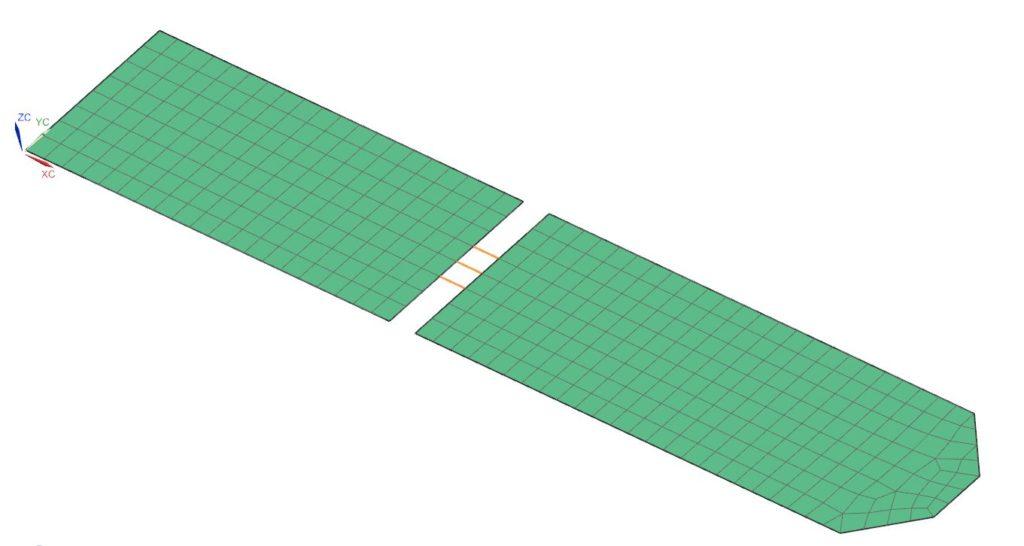 Złożenie AFM paneli solarnych wraz z połączeniami 1D