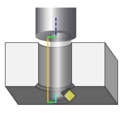 Fazowanie otworów od spodu w NX CAM