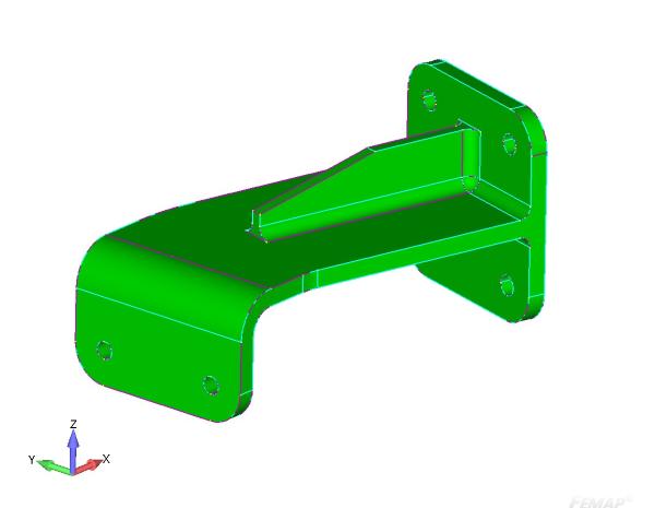 Rys. 1. Geometria 3D na podstawie której zostanie stworzona powierzchnia środkowa