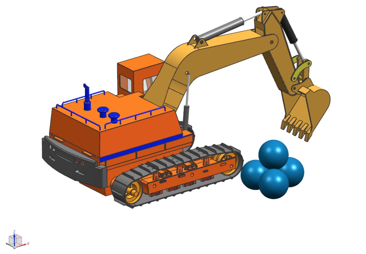 Sprzęgnięcie analizy ruchu z symulacją wytrzymałościową w Simcenter 3D na przykładzie modelu koparki