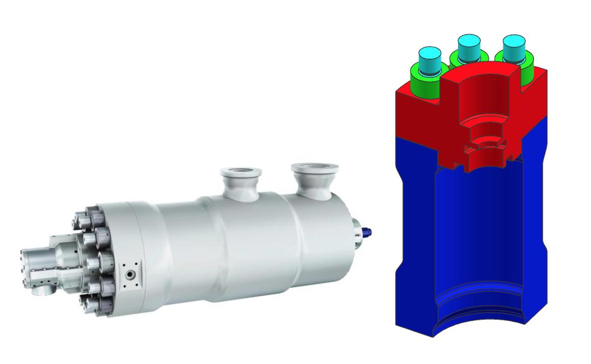 Uproszczony model MES połączenia śrubowego (pompa wraz z kołnierzem)