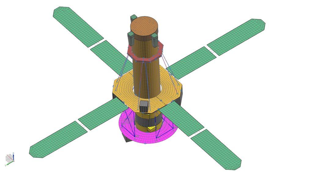 Złożenie siatek na przykładzie satelity