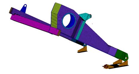Siatka 2D na całym modelu powierzchniowym