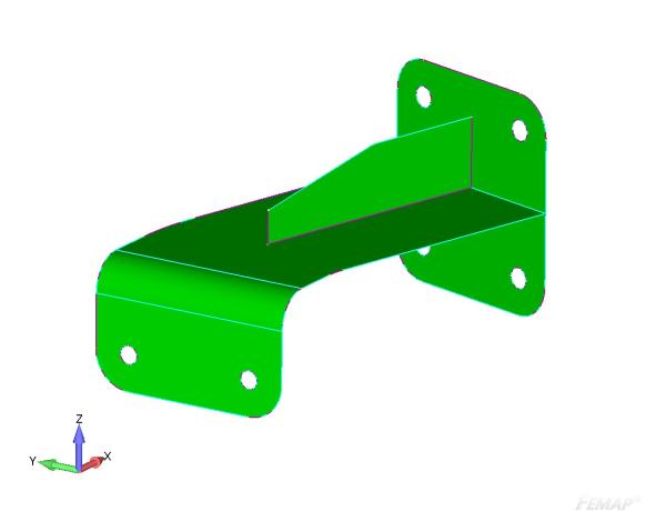 Utworzona na podstawie modelu 3D powierzchnia środkowa