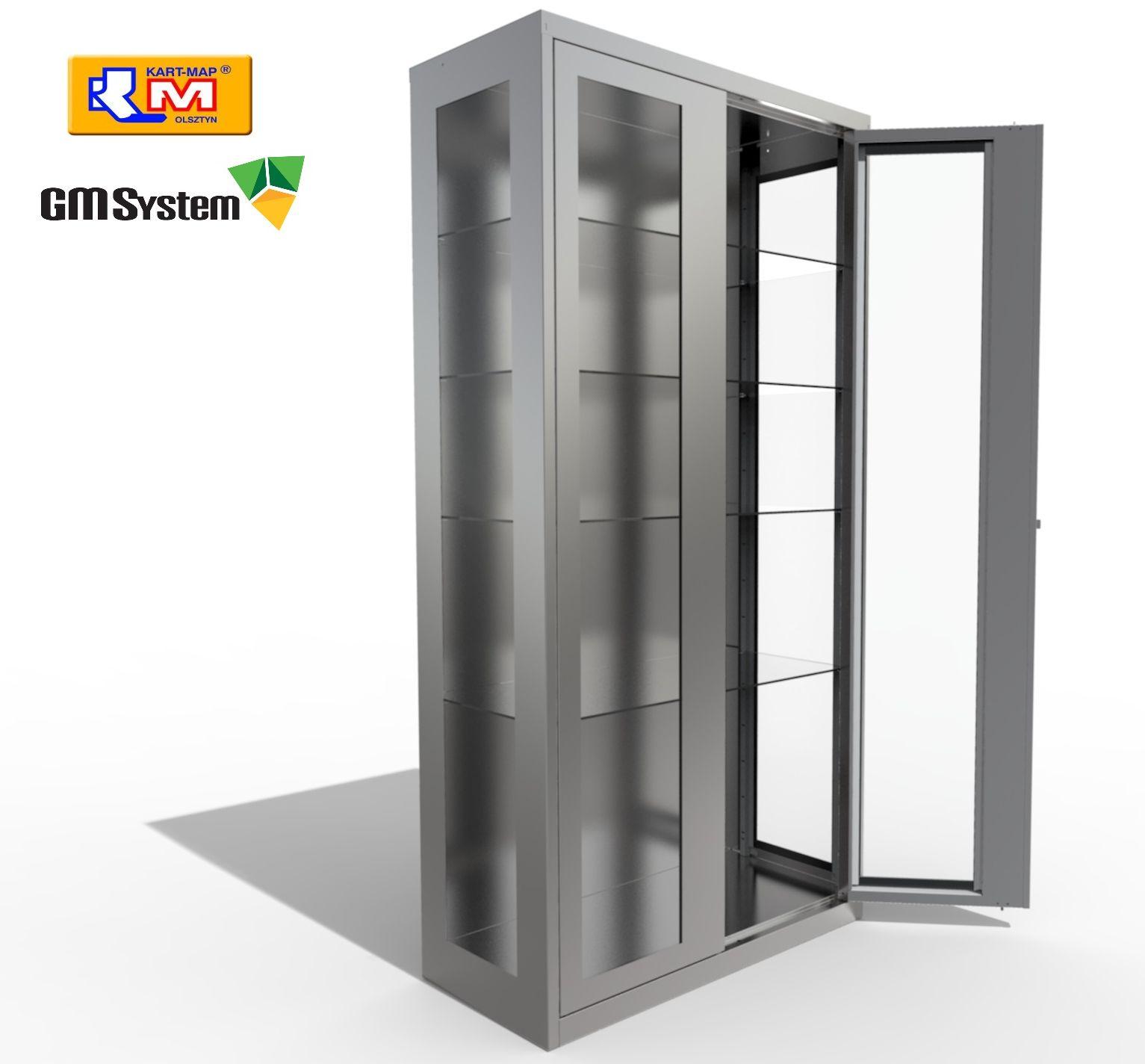 Wizualizacja szafy medycznej wykonana w KeyShot