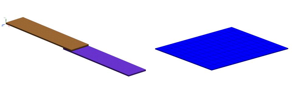 Rozwiązanie nieliniowe - dwie płytki połączone warstwą kleju