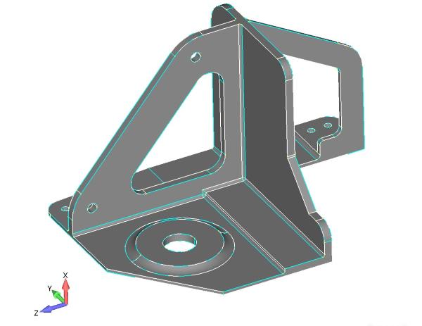 Geometria 3D zawierąjaca ściany o zmiennej grubości