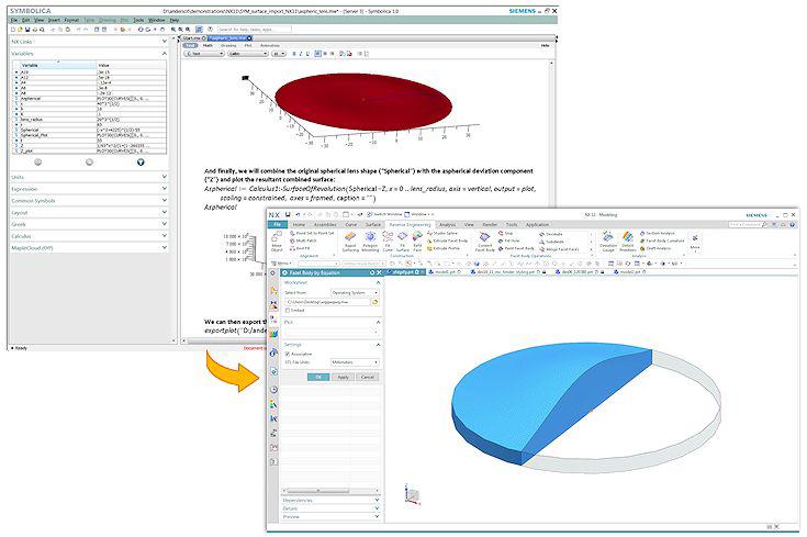 Obiekt według równania w NX 12 CAD