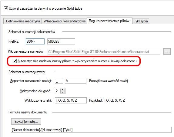Reguły nazewnictwa plików – włączenie opcji ochrony przed duplikacją