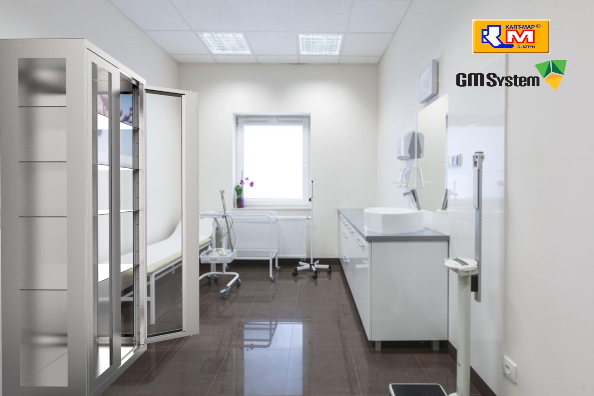Wizualizacja szafy medycznej