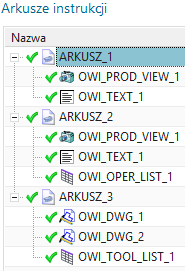Arkusze instrukcji NX CAM