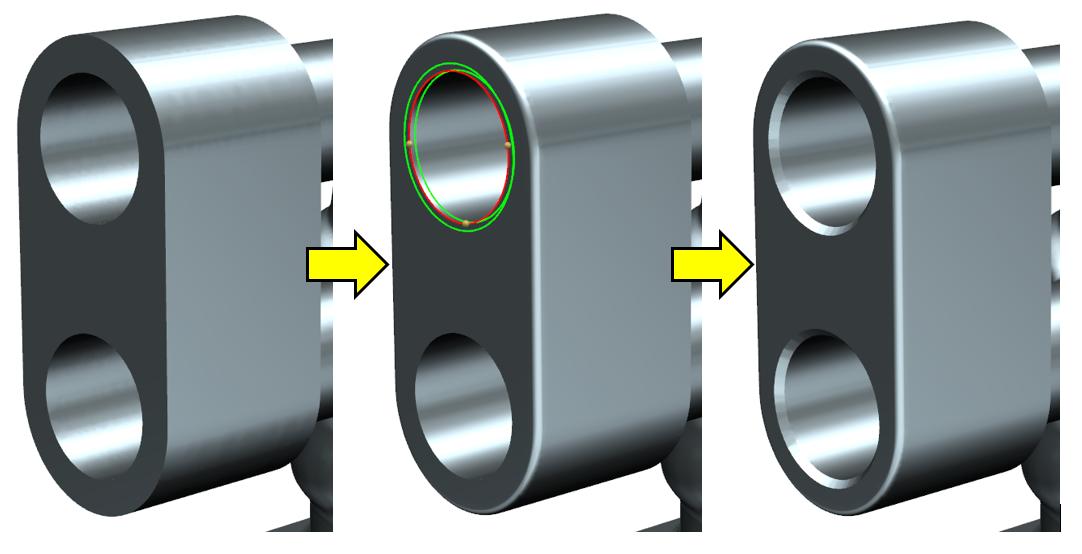 Dodawanie zaokrągleń i faz na modelu uproszczonym w NX 12