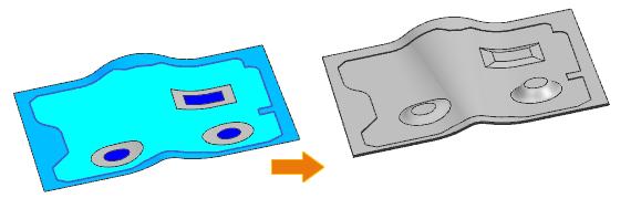 Generowanie bryły w wyniku zmiennego odsunięcia ścianki w NX 12 CAD