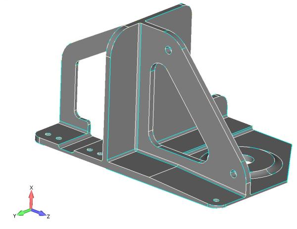 Rys. 4. Geometria 3D zawierąjaca ściany o zmiennej grubości w innym ujęciu