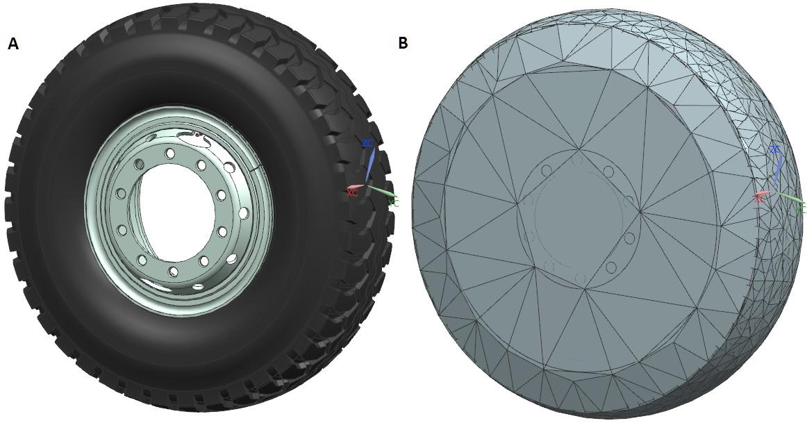 Podzłożenie w NX CAD przed i po uproszczeniu