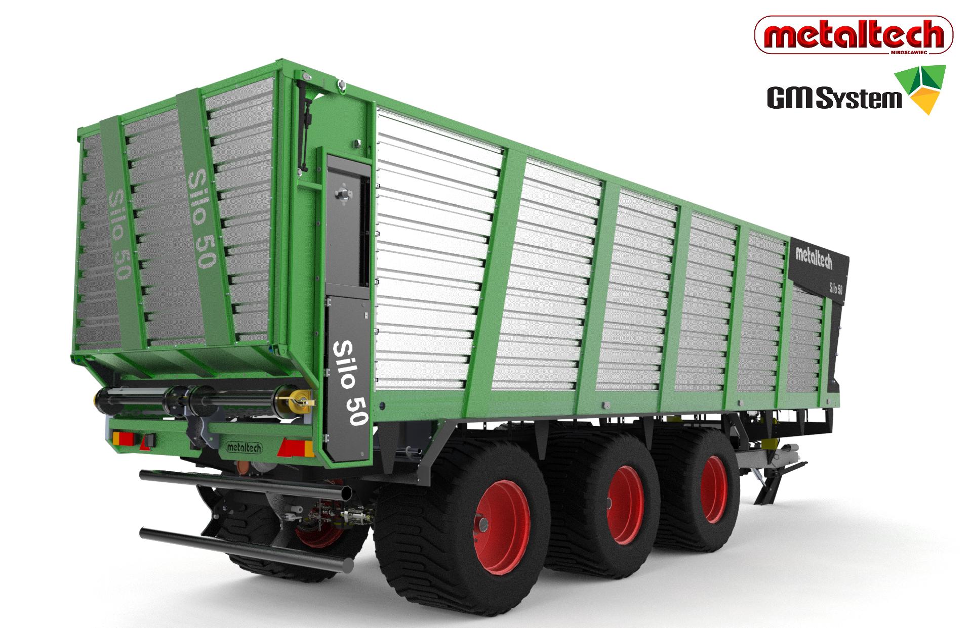 Wizualizacja modelu przyczepy objętościowej Silo 50 firmy Metaltech