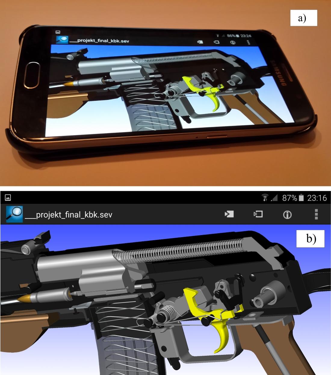 Zastosowanie bezpłatnej oraz intuicyjnej przeglądarki SOLID EDGE MOBILE VIEWER do wizualizacji broni palnej