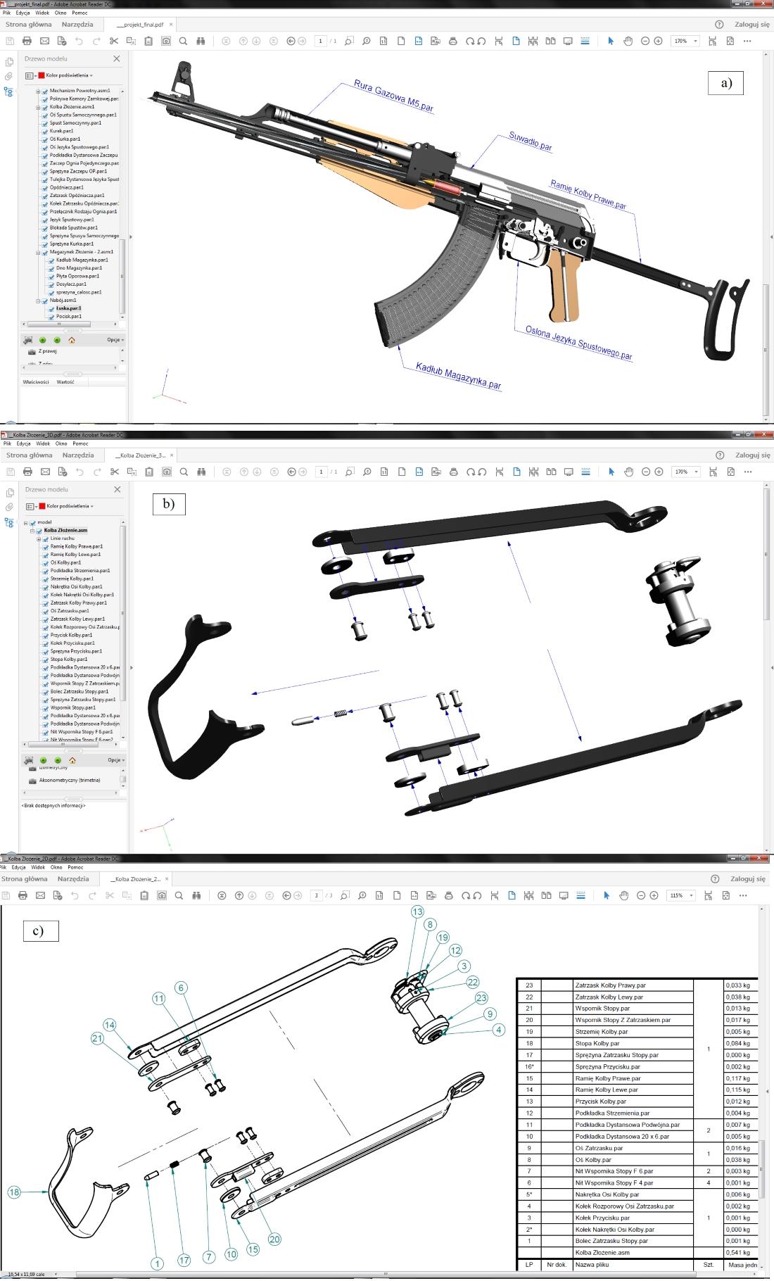 Przykłady eksportu danych 3D/2D z 'macierzystego' systemu CAD do formatu PDF