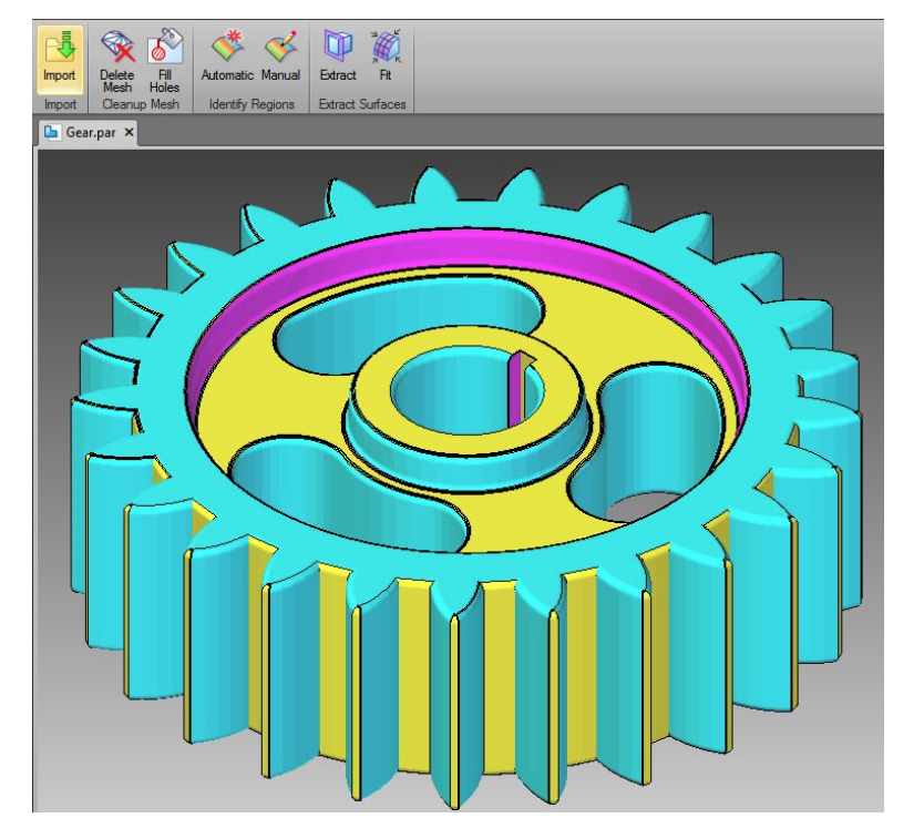 Konwersja siatki poligonowej na bryłę za pomocą Reverse Engineering