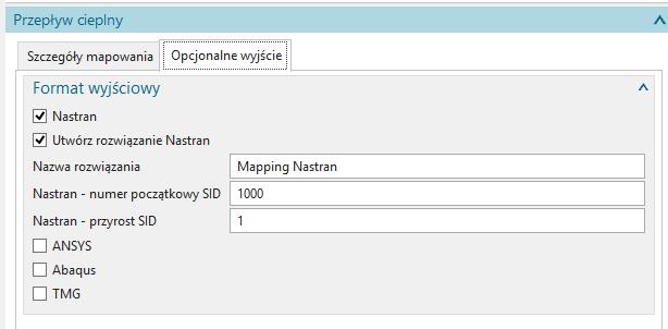 Automatyczne tworzenie analizy Nastran z rozkładem temperatury ze wskazanego pliku wyników