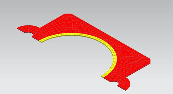Model uszczelki z przypisanymi materiałami