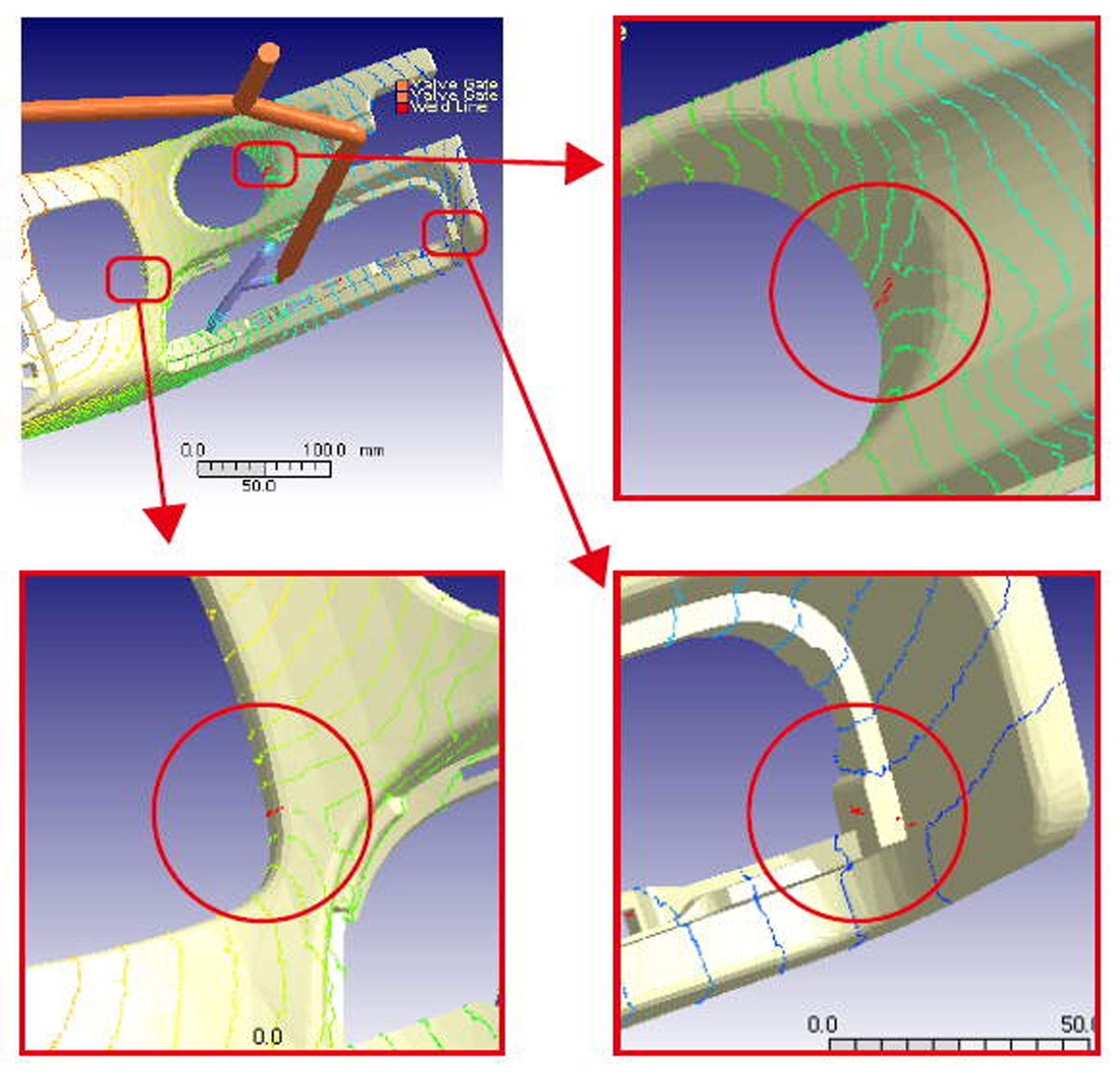 Po zmianach dwie linie łączenia występują w narożach, a trzecia w miejscu, które zostanie zakryta przez inną część