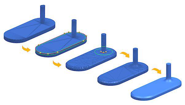 Wprowadzanie cech szczegółowych na obiekcie STL w NX 12 CAD