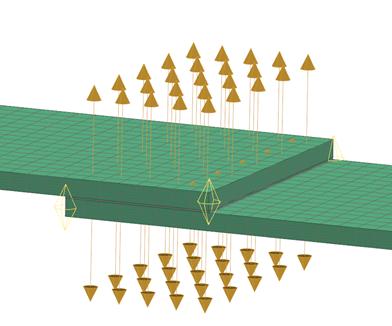 Sklejenie powierzchni z powierzchnią pomiędzy 3 obiektami