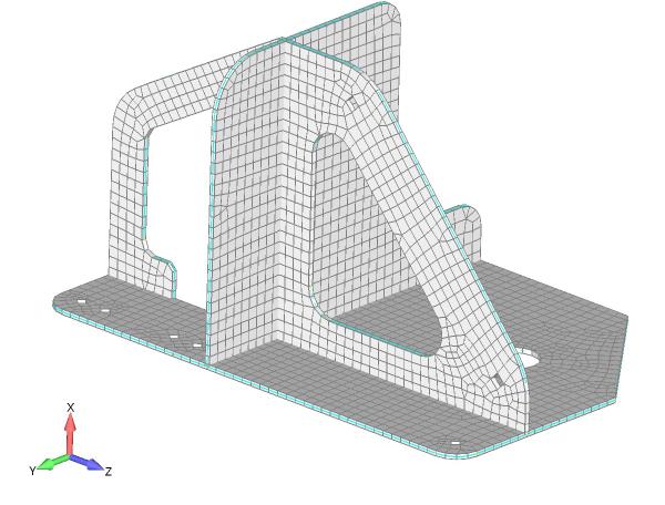 Wizualizacja grubości nałożonej siatki 2D