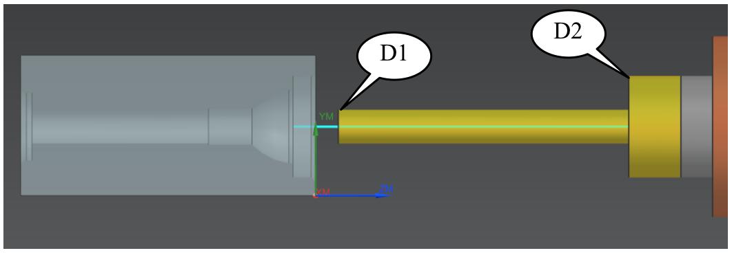 Nowości NX CAM - Pozycjonowanie narzędzia przed detalem (D1, ruch szybki)
