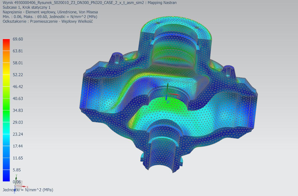 Naprężenia termiczne w Simcenter 3D