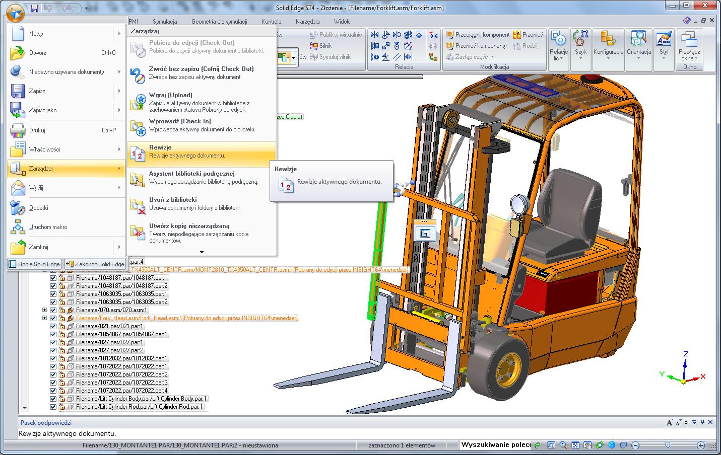 Solid Edge Insight - Zarządzanie danymi projektowymi i ich bezpieczeństwo