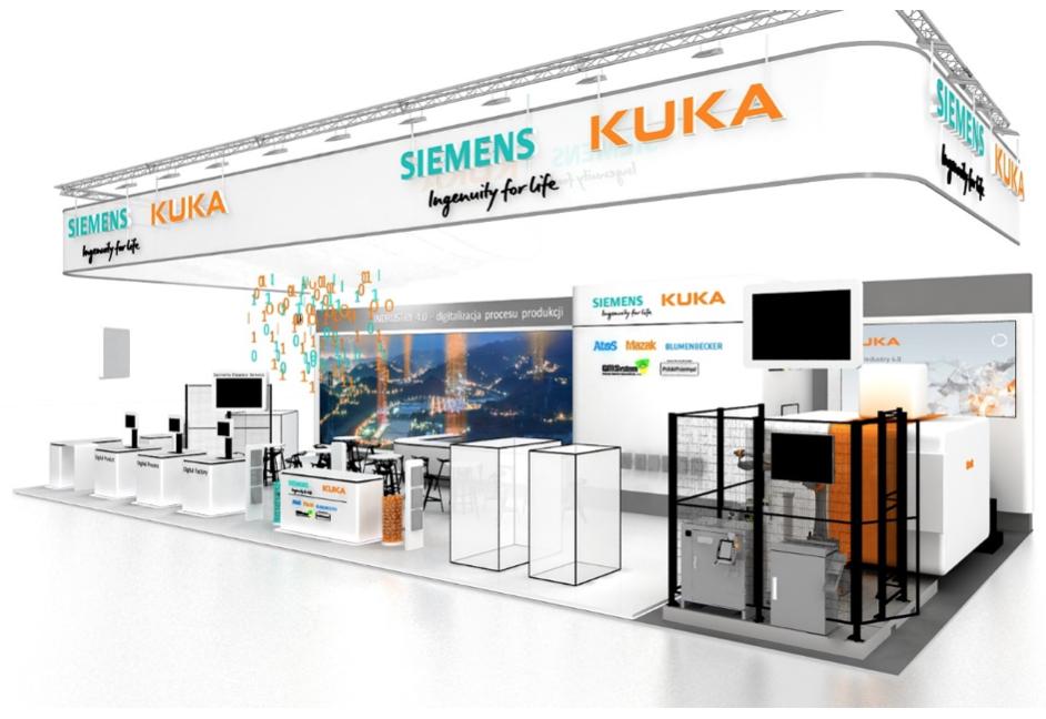Stoisko Siemens, Kuka, GM System na targach ITM 2017