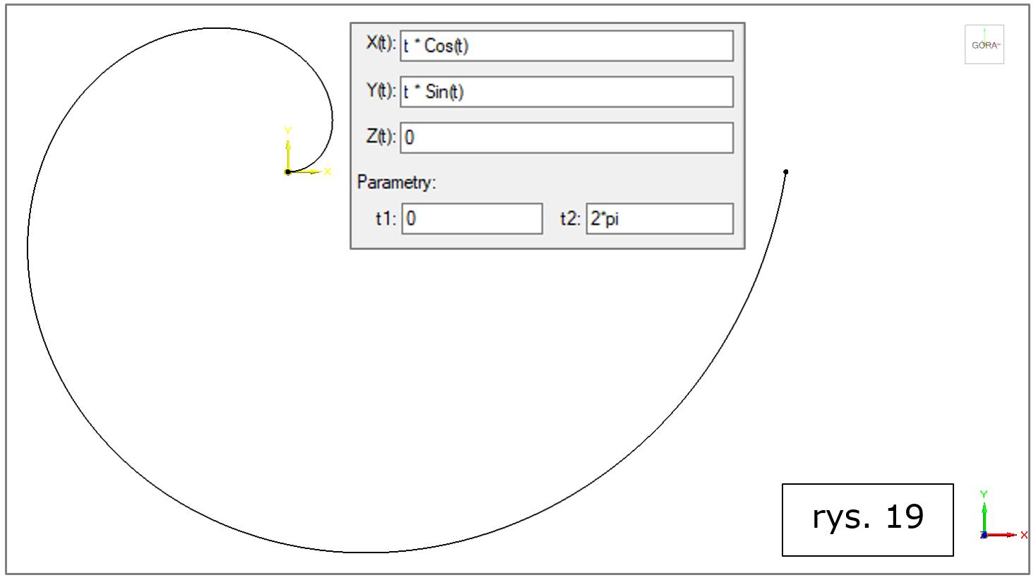 krzywa-wynikowa-rownania-spirala-Archimedesa-Solid-Edge-2022